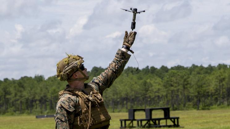 La Marina estadounidense está probando drones que pueden funcionar como granadas